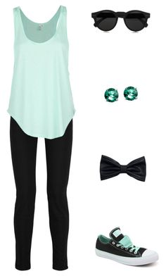 """""""Just 'Cause You're Special"""" by pinkbuttons85 ❤ liked on Polyvore featuring moda, Current/Elliott, Converse, Rip Curl, Glitzy Rocks, H&M y Illesteva"""