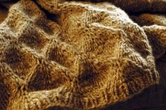 Embossed Diamonds Afghan