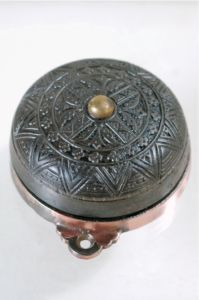 I love these - Antique Victorian Ornate Mechanical Twist Door Bell