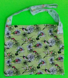 Humming Bird Tote/irockstar totes by  one of a kind larissamyrie.art washable, strong, upcycled, fun, #fashion #style #art #barbie #shoppingbag #totebag #shoulderbag #slowfashion