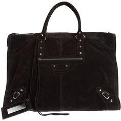BALENCIAGA 'Paper A3' bag ($1,700) ❤ liked on Polyvore