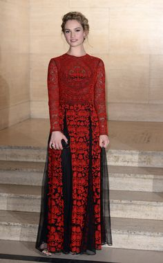 If the princess took a dark turn, there's no doubt in our mind she'd be wearing this Valentino Spring 2014 number with its ornate, scarlet-hued embroidered and black tulle skirt. - MarieClaire.com