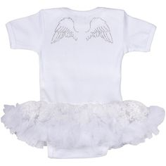 Angel wings white pettidress