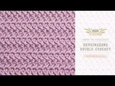 How To: Crochet The Herringbone Double Crochet | Easy Tutorial by Hopeful Honey - YouTube