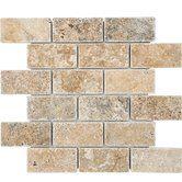 """Found it at Wayfair - Philadelphia Mosaic 2"""" x 4"""" Stone Mosaic Tile Tumbled"""