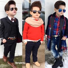 Men Suits Team : Photo Toddler Wedding Outfit Boy, Baby Boy Dress, Toddler Boy Outfits, Boys Dress Outfits, Outfits Niños, Kids Outfits, Stylish Little Boys, Stylish Baby, Stylish Kids