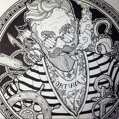 Seaman by Vika Naumova, via Behance