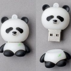 "Leegoal Creative Panda Shape USB Memory Stick Flash Drive,Black and White Capcity 8 GB drive Premium true Supports USB and compatible with USB Very cute ""Panda"" design Leegoal bulk packing with good quality warranty. Panda Love, Cute Panda, Panda Panda, Panda Bears, Bolo Lego, Panda Gifts, Flash Memory, Computer Accessories, Usb Flash Drive"