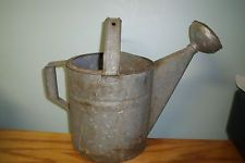 Vintage Large Galvanized Water Can With Large Sprinkler Head Marked 8