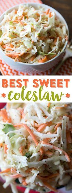 Best Sweet Coleslaw Recipe   Restaurant Style Coleslaw   Easy Sweet Coleslaw