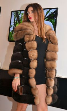 Natural Russian Sable Fur Coat Like Jacket Chinchilla Royal Saga Mink Lynx Fox | eBay