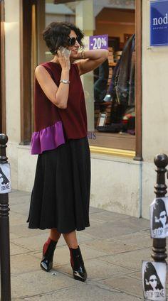 yasmin sewell in a midi skirt & peplum style top #style #fashion…