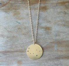 Cute minimalist constellation necklace.