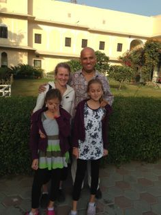 Our guests Ms Eva Da Silva and Mr. Hillary Raphael Da Silva and their two daughters enjoying a great time at Royal Heritage Haveli Jaipur!