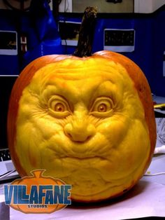 Ate My Way Out Pumpkin SculptureCarving By Ray Villafane - Mind blowing pumpkin carvings by ray villafane 2
