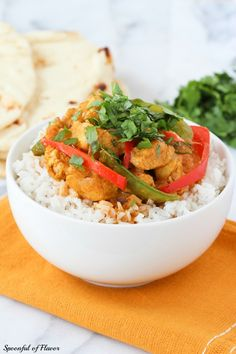 Craving curry? Make @Spoonful of Flavor | Ashley's gorgeous Coconut Chicken Curry at home! /ES