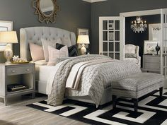 Arched Winged Bed by Bassett Furniture