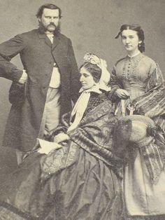 Artfully posed CDV Civil War Era Family Norwich New York | eBay Properly worn sack coat on man; lovely shawls on the ladies.