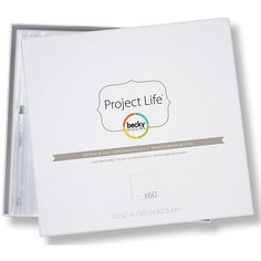 """American Crafts Project Life 12"""" x 12"""" Page Protectors Big Pack - 60-pack"""