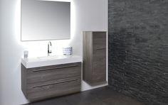 INK 45 TABLET met grepen tablet - grepen - polystone - 45 - badkamer - wastafel - ink - spiegelkast - badjas - sanibell - badmeubel - badkamermeubel - bliss elements