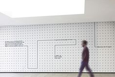 Picture of wall designed by Stockholm Design Lab for the project A-TO-B. Published on the Visual Journal in date 13 October 2015