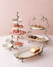 Love all the different heights of these serving pieces!  What a spectacular table of treats!!!
