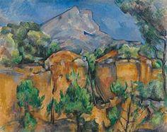 Paul Cezanne - La montagna Sainte-Victoire vista dalla cava di Bibemus 1898-1900