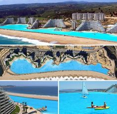 The worlds largest swimming pool at the San Alfonso del Mar resort in Algarrobo, Chile.