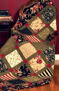 Pattern - Country Estate from The Pine Needle this would be fast in Christmas fabrics