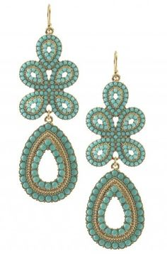 bytogglewire in fashion and style : i love statement earrings with hair in a ponytail or with short hair - these Capri earrings perfect for spring and summer.    Stella  Dot