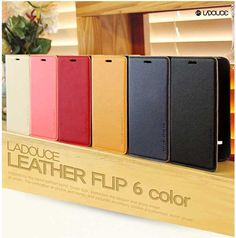 LADOUCE LEATHER FLIP CASE FOR GALAXY A7