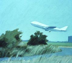 """""""Jumbo Jet"""" 1976 Oil 30x34cm Jumbo Jet, Painter Artist, Oil, Painting, Painting Art, Paintings, Draw, Cooking Oil, Butter"""