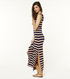 This sexy striped maxi dress is a must-have in your summer wardrobe! Summer Time, Spring Summer, It's Summertime, Maxi Skirt Style, Dress Up, Bodycon Dress, Style 2014, Striped Maxi Dresses, Summer Wardrobe