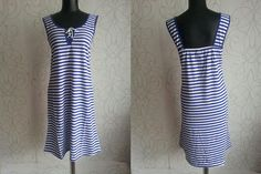 30% off SALE Woman's Summer Stripped Marine Dress Beach