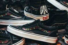 """Custom Vans by SBTG: """"Anarchy & Chaos"""" Sk8 Hi and Old Skool for Cover by Crossover"""