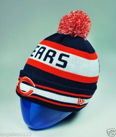 New Era Hat Sport Knit NFL Men Size Beanie Chicago Bears Jake Beanie Pom  Pom  1fd5d8805b88