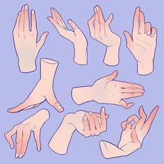 Hand Drawing Reference, Drawing Reference Poses, Drawing Hands, Main Manga, Drawing Expressions, Anatomy Art, Anatomy Drawing, Digital Art Tutorial, Art Poses