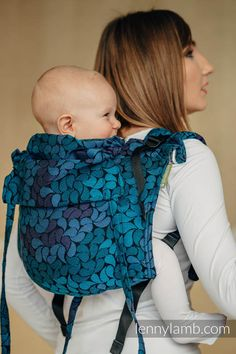 Lenny Buckle Onbuhimo, standard size, jacquard weave (100% cotton) - Wrap conversion from COLORS OF NIGHT  #babywearing