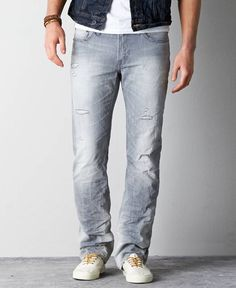 Original Straight Jeans, Men's, Grey
