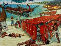 61 BC Pompey's army defeat The Pirates at the end of the Mithridatic wars.