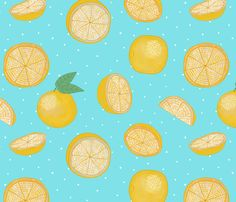 flying citrus fabric by cleverviolet on Spoonflower - custom fabric