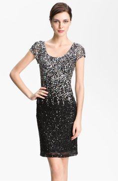 JS Boutique Scoop Neck Embellished Sheath Dress | Nordstrom