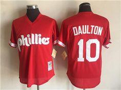 b364bd507 Philadelphia Phillies  10 Darren Daulton Red Cooperstown Mesh Batting  Practice Jersey