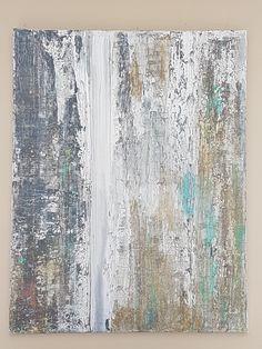 """Biollay Vanina  'Silver"""" acrylique 70 x 90 cm"""