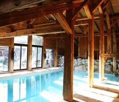Pool in a barn.