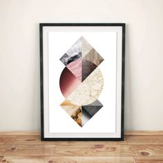 Geometric Textures, Abstract Art, Digital Print,Wood Textures, Printable Download, Geometry Decor, Modern Printable, Scandinavian Art de WildMoonriseDesigns en Etsy