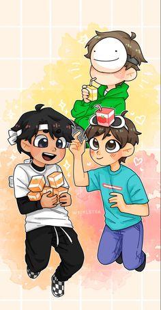 Animes Wallpapers, Cute Wallpapers, Team Wallpaper, Minecraft Wallpaper, Dream Friends, Minecraft Fan Art, Dream Art, Cute Drawings, Cute Art