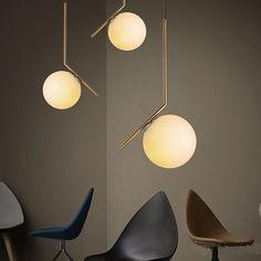 Modern Glass ball LED Pendant Lamp Nordic Decor Ceiling Lamp Chandelier Lighting…
