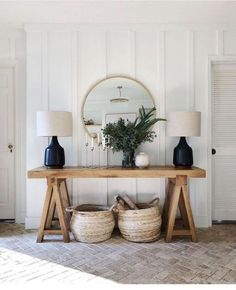Are you looking for images for farmhouse living room? Browse around this website for amazing farmhouse living room images. This kind of farmhouse living room ideas appears to be entirely superb. Interior Design Living Room, Living Room Decor, Cottage Style Living Room, Console Table Living Room, Bedroom Table, Living Room Furniture, Diy Furniture, Bedroom Decor, Entryway Decor