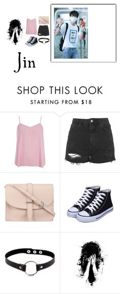 """""""Jin"""" by bad-blackjack ❤ liked on Polyvore featuring Dorothy Perkins, Topshop and M.N.G"""